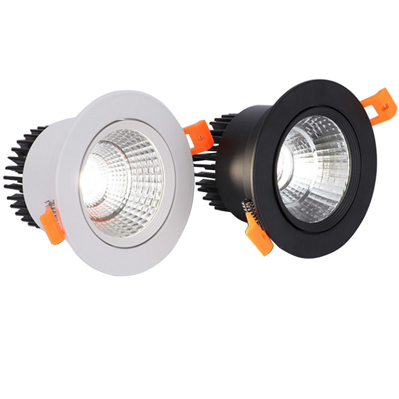 Dimmable LED COB Downlight 3W 5W 7W 9W 12W 15W Round Recessed LED Spot Light Lumination Indoor Decoration Ceiling Lamp 110 220V