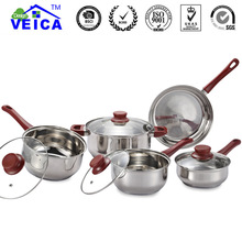 Tencere 2019 Top Fda Quality High-grade 5 Peices Cookware Set Cooking Pots With Frying Pan Stainless Pot Hot And Pans Kitchen