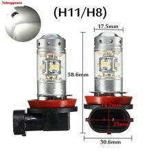 Par lampadas branco natural h11 h8 28 led cree chips 3535 5000k-6000k para farol neblina anjo olhos bmw x1