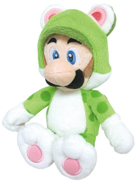 Аниме Super Mario Bros 3D Мир плюшевые Игрушки ---- Neko Cat Луиджи