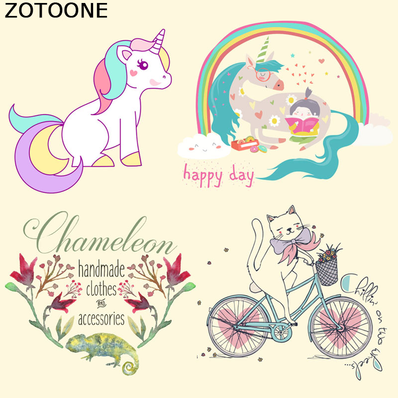 Unicorn Patches Heat Transfer Sticker DIY Iron on Clothes Shirt Applique UK