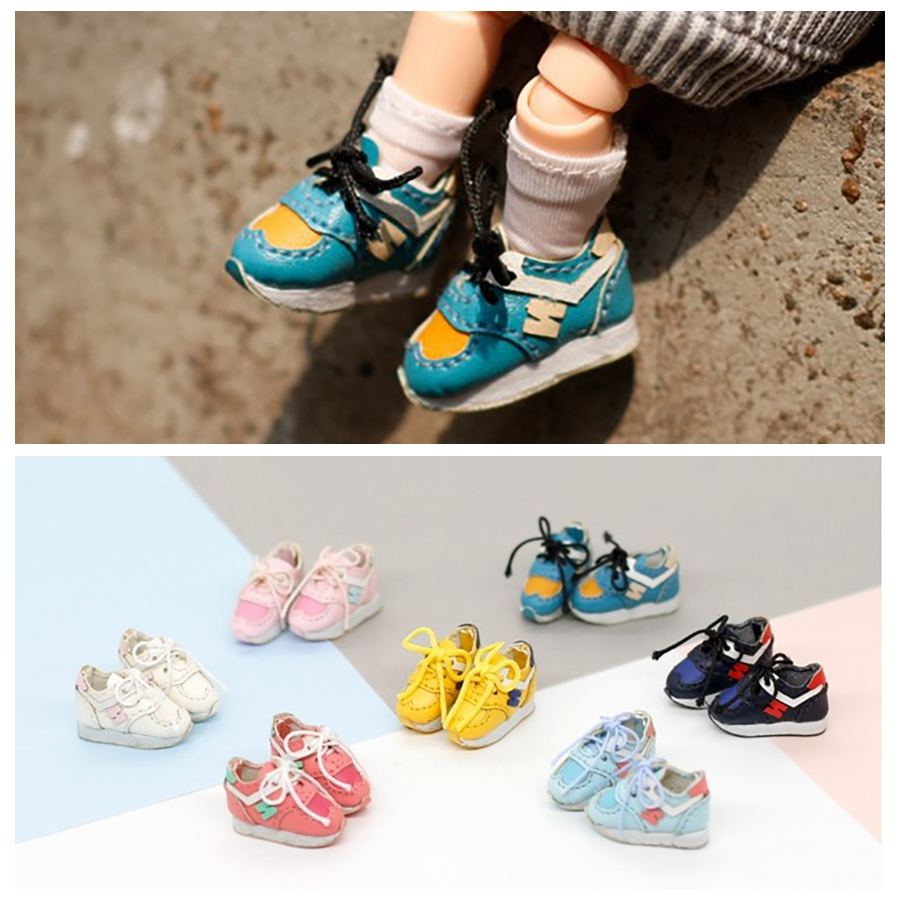 1 Pair Exquisite Sport Shoes Skater Shoes Cute Sneakers For OB11 Obusit11 Middle Blyth Dolls Accessories Sneakers For Dolls
