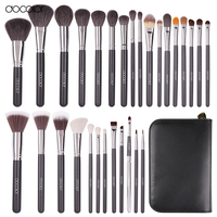 Docolor Professional 29 Pcs Goat Hair Pony Hair Synthetic Hair Makeup Brushes Set Cosmetic Make Up