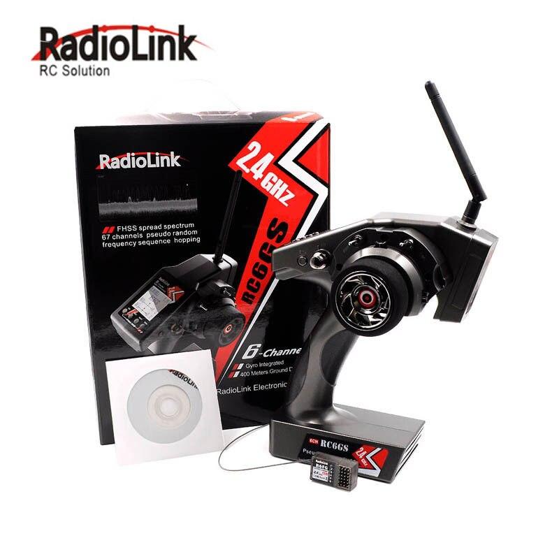 RadioLink RC6GS 2.4g 6CH Voiture Émetteur + R6FG Gyro Récepteur pour RC Voiture Bateau