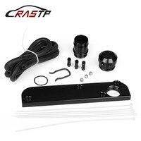 RASTP PCV Delete Solution Kit w/ Boost Cap Fit for Audi 2.0T FSI Engines Fuel Supply Accessories Black Boost Cap Kit RS TC012