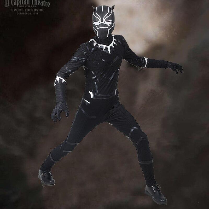 New Captain America Civil War T/'Challa Black Panther Wakanda Cosplay Costumes