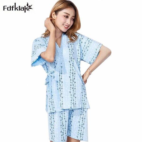 57b441c813 New summer pajamas women short sleeve cotton pyjamas women s sleepwear set  elegant print girl s pijamas home clothes for ladies