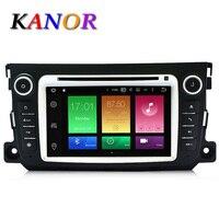 Kanor Android 6.0 Octa core Оперативная память 2 г автомобильный DVD GPS Радио стерео для Mercedes-Benz Smart 2012-2015 bluetooth USB WI-FI Автомобильные ПК аудио