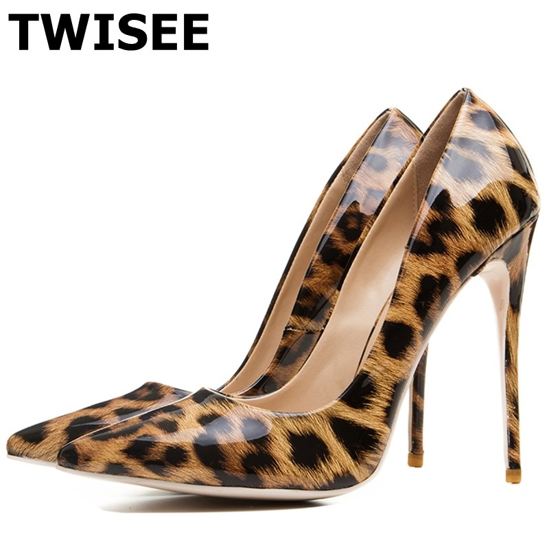 TWISEE lolita PUMPS Mixed Colors Serpentine Sexy Women High Heels Shallow Pointed Toe Stiletto Pumps Ladies Party Shoes Woman beango 2018 new fashion women high heels pointed toe striped pumps mixed colors rivet stiletto party wedding shoes woman