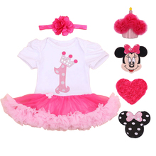 1 year birthday dress for 1st first baby girl birthday dress clothing pink infant princess baby girl dress party 6 9 12 24 month