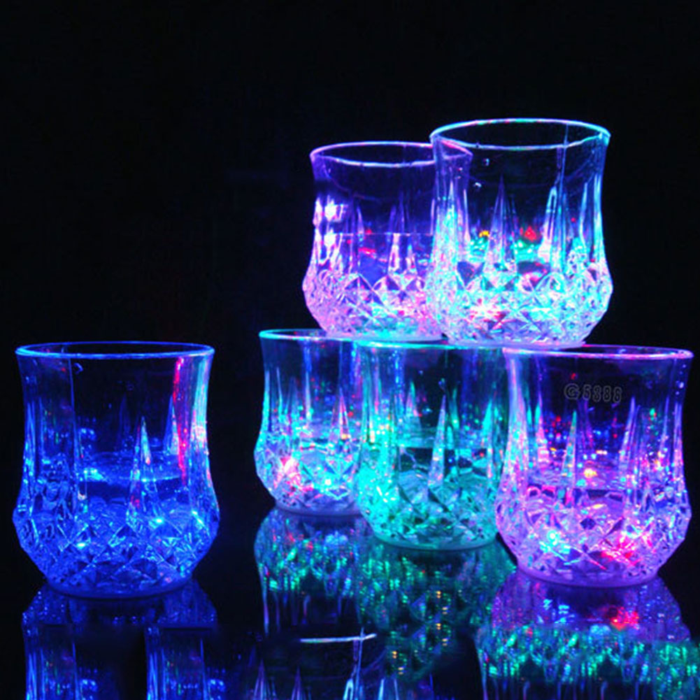 Colorful Magic Flashing LED Cup Water Sensor Halloween Birthday KTV Party Banquet Decoration Drop Shipping