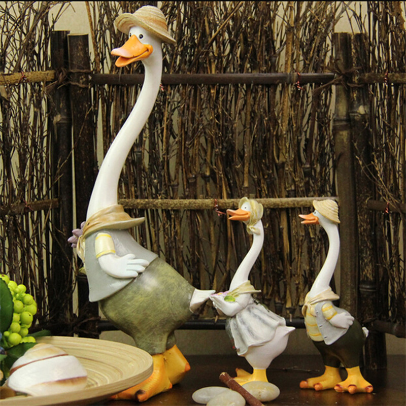 Kawaii Home Decoration Gifts Duck Crafts Ducking Ornaments Rural ...