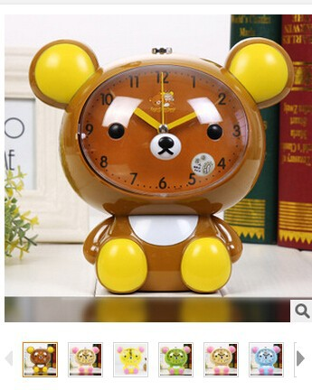 1 piece Kawaii San-X Rilakkuma lazy Bear Desk Alarm Clock Table big head Size 6 colors in colorful box