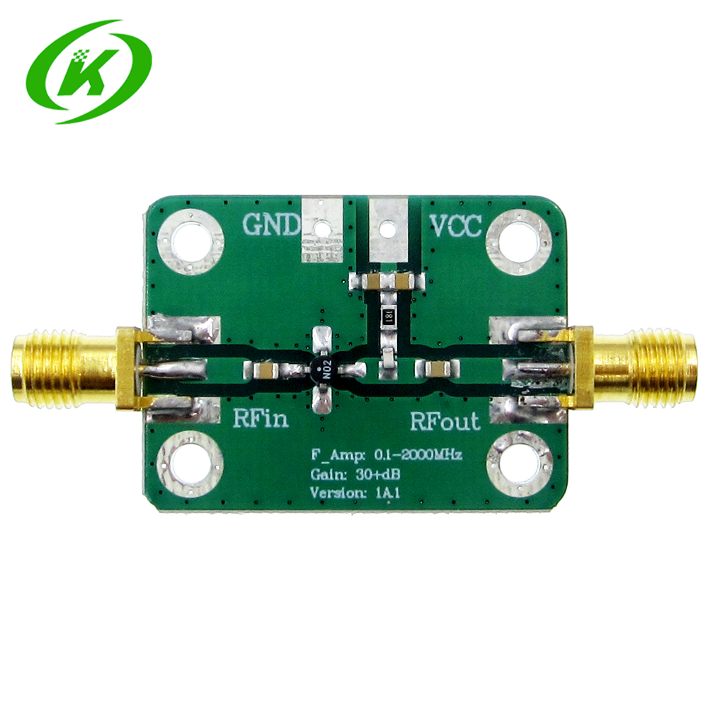 0.1-2000MHz RF Wideband Amplifier High Gain 30dB Low-noise Amplifier LNA Development Board rf broadband lna 0 1 2000mhz amplifier 30db high frequency amplifier