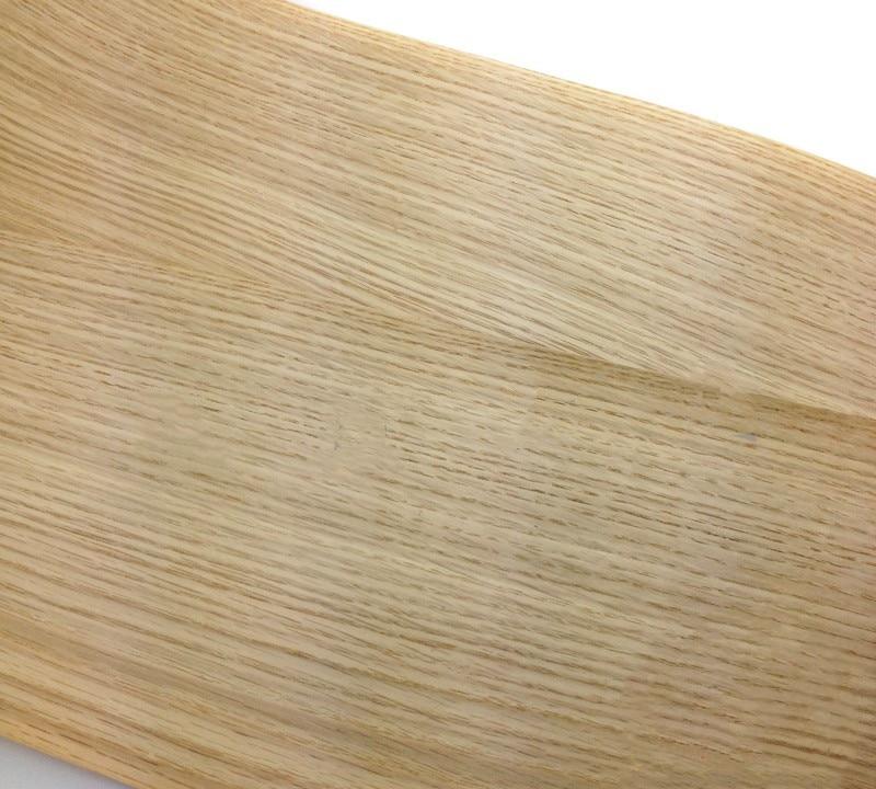 2x Natural Wood Veneer Sliced Veneer White Oak Veneer Furniture Veneer Straight Grain Striped 20cm X 2.5m 0.25mm Thick Q/C