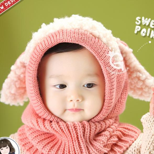 Woolen Coif Hood Scarf Scarves For baby and younger [Freesize]