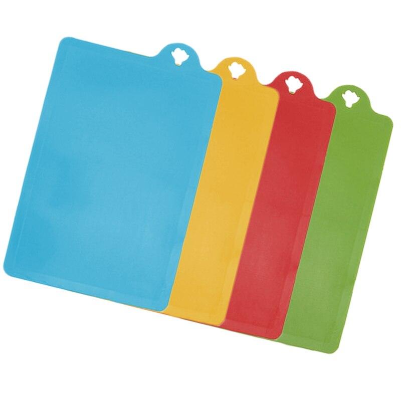 4pcs 유연한 컬러 커팅 보드 매트 세트 프리미엄 플라스틱 도마 보드 주방 용품에 대 한 에코 친화적 인 매트를 청소하기 쉬운-에서초핑 블록부터 홈 & 가든 의  그룹 2