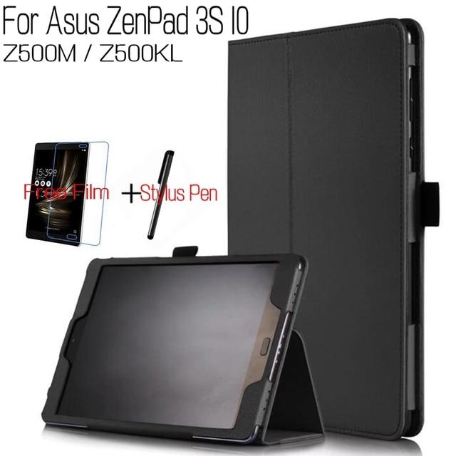 size 40 dc967 51304 US $8.15 16% OFF Top Kwaliteit Stand Smart PU Lederen Cover asus ZenPad 3 S  10 Z500M LTE Z500KL 9.7 inch Tablet Funda Case + Screen Protector + Pen in  ...