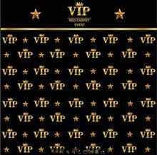Golden Crown Estrela VIP preto fundo Vinil foto fundo do estúdio de pano Computer impresso festa de Alta qualidade