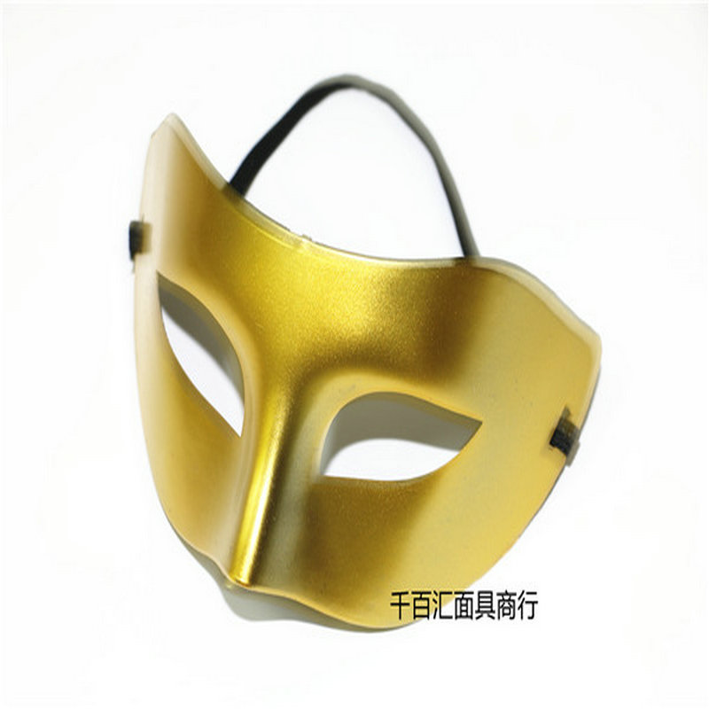 Mask Men Pingtou Zorro Half Face Men and Women\`s Dance Show Eyeshade Gold and Silver Jazz Halloween mask (3)