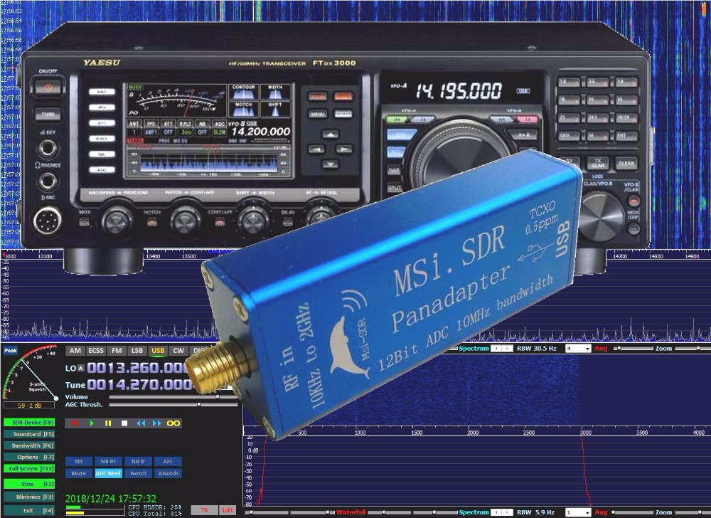 2GHz Panadapter panoramic spectrum module sets  SDRPlay RSP1 MSI.SDR 10kHz