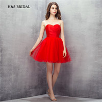 56eafb94bd39c H S Bridal Red Short Cocktail Party Gowns Tulle Puffy Elegant Girls  Graduation Homecoming Dresses
