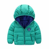 Winter Newborn Baby Snowsuit Fashion Girls Coats And Jackets Baby Warm Overall Kids Boy Jackets Outerwear