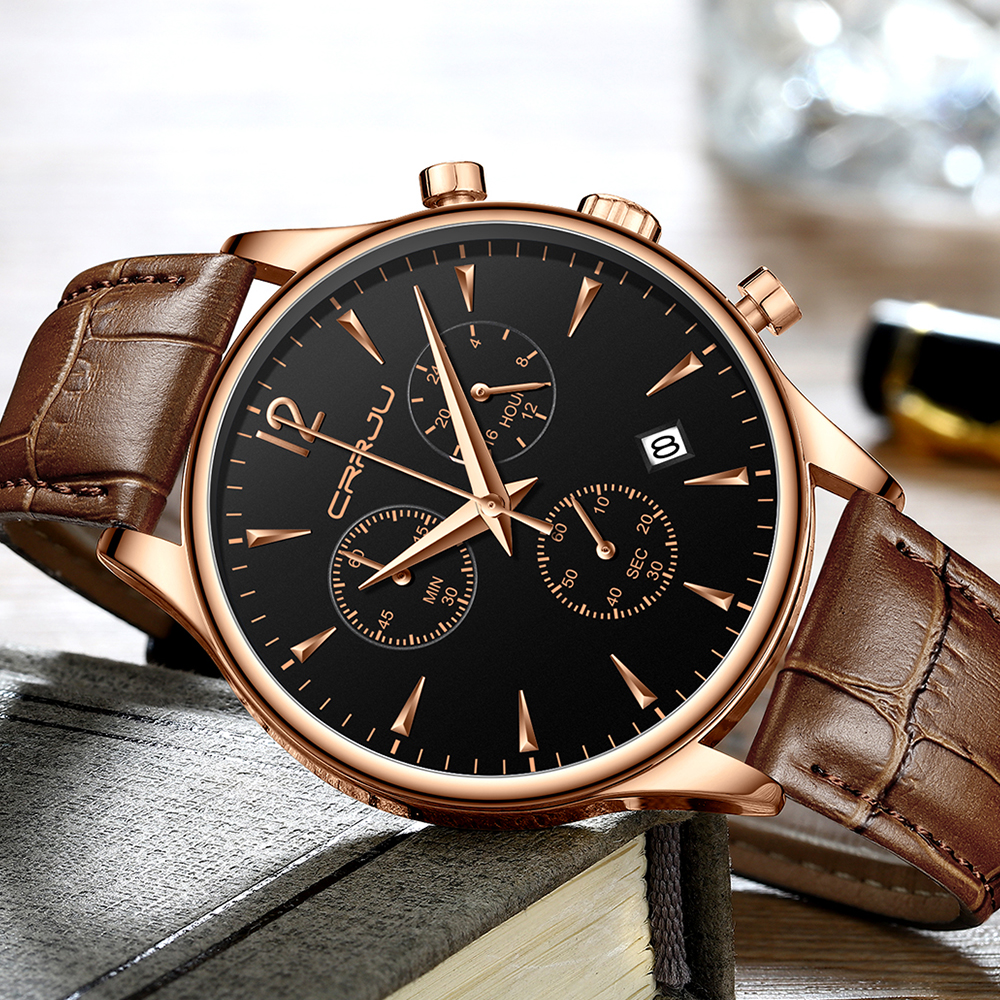 Mens Sports Watches Men Top Brand Luxury Leather Quartz Automatic Date Clock Male Army Military Waterproof Wrist Watch