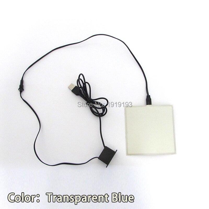 1PCS 6 färg 10X10CM EL-ark LED EL Panel av DC5V USB-drivrutin för - Festlig belysning - Foto 5