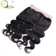 Sterly Brazilian Remy Hair Body Wave 360 Brand Lace Frontal Closure With Baby Hair 100% Human Hair Free Part Pre Plucked(China)