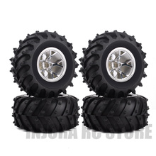 4 шт./компл./комплект обода колеса и резиновые шины для 1/10 RC Monster Truck Traxxas Tamiya HSP HPI Kyosho