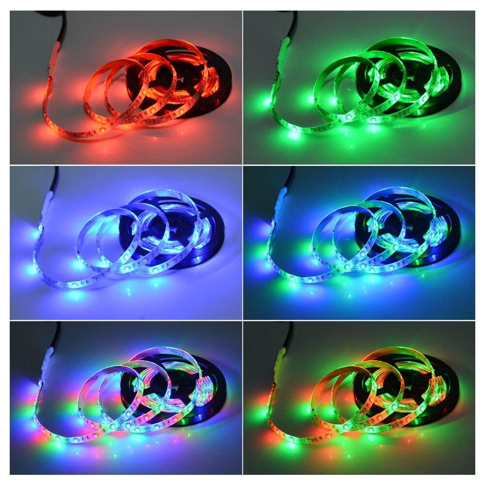 RGB светильник для Kicthen лампы 1 м 2 м 3 м 4 м 5 м водонепроницаемый светодиодный светильник s для шкафа Шкаф украшение Ночной светильник светодиодный Диод