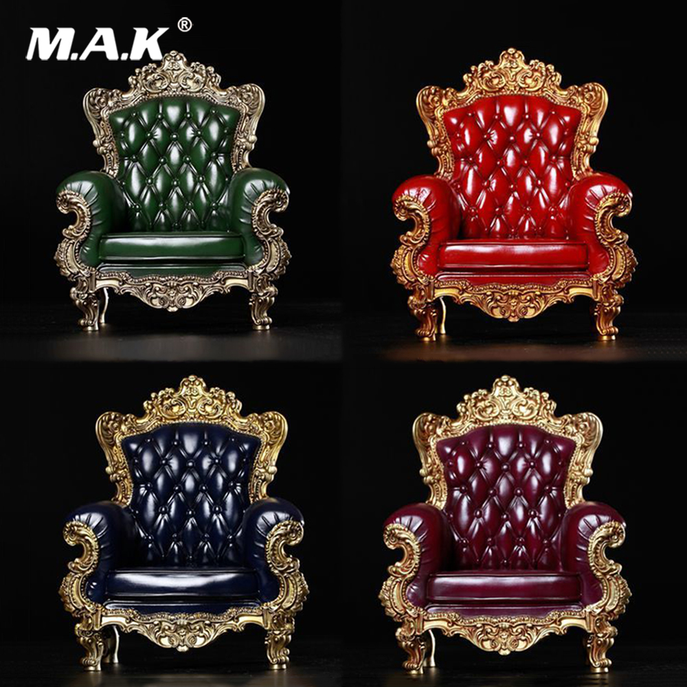 1/6 Scale British Single Sofa Model red/green/blue/purple Figure Scene for 12