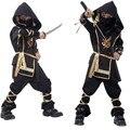 Crianças Ninja Trajes Festa de Halloween Meninos Meninas Guerreiro Stealth Crianças Cosplay Traje Assassino Presentes do Dia das Crianças