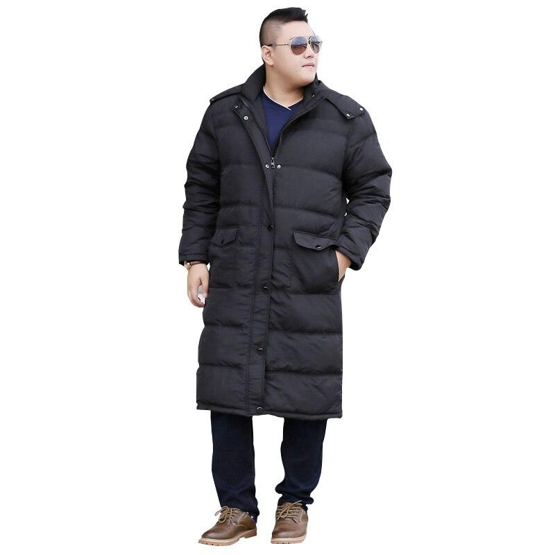 Hiver plus la taille oversize code longue section veste grande taille homme fermer manteau 10XL 9XL 8XL