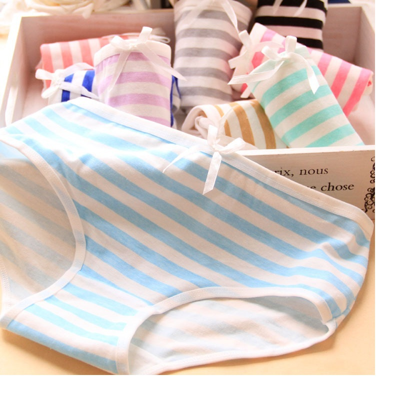 Direct Selling Sale Gas Panties Free Shipping Fashion Cotton Striped girl Underwears young girls briefs