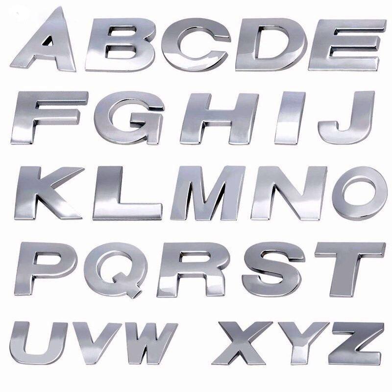 3D Car Styling Metal DIY ARC Letters Chrome Digital Alphabet Emblem Decal Car Stickers Custom Logo Automobiles Car Accessories Color Name:, Style: Y