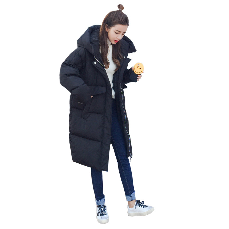 Winter Jacket Large Size Warm Hooded Loose Fashion Padded Thick Cotton Parka Coat Women Girls Korean Winter Jacket TT3185 large size winter jacket hooded coat women clothing korean loose thick lamb wool coat solid casual warm cotton female coats 4xl