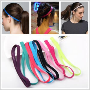 Hair-Bands Sports-Headband Rubber Football Anti-Slip Elastic Yoga Running Women Biking