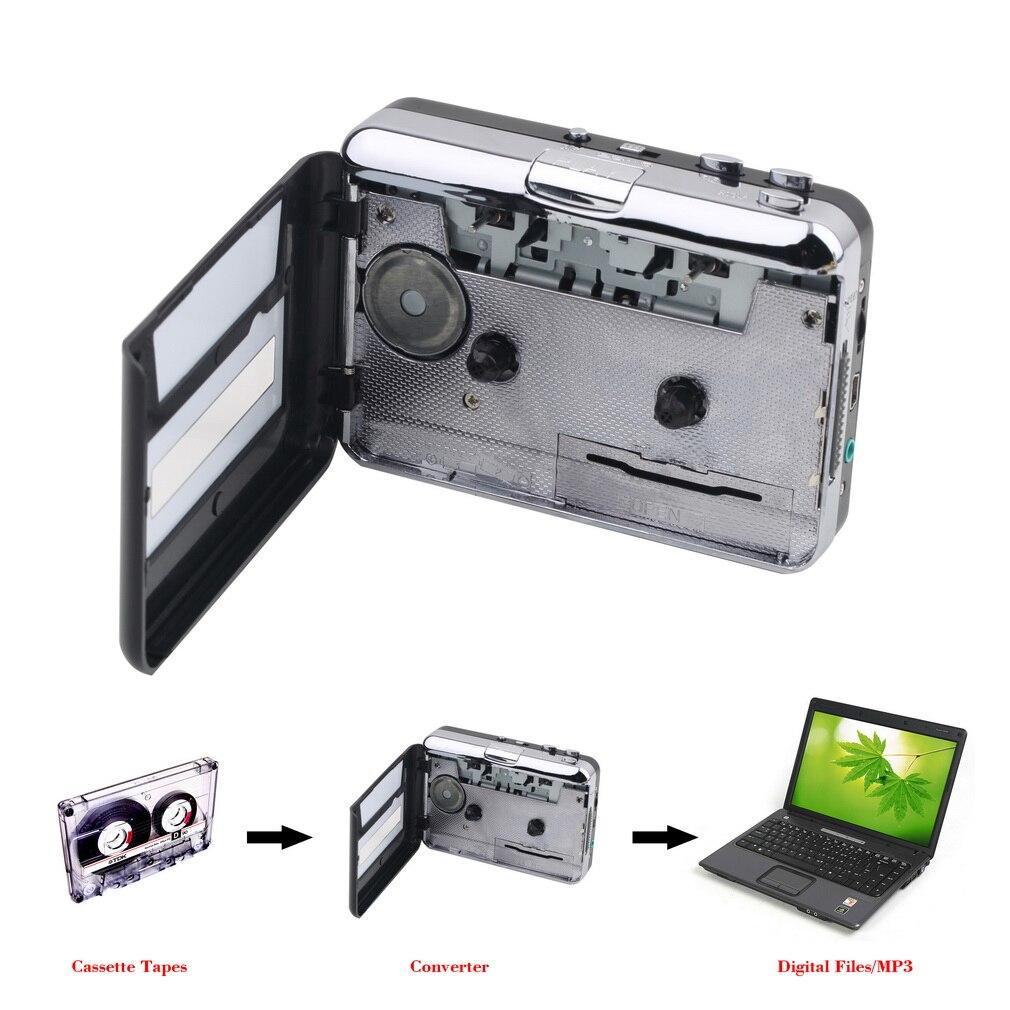 1 satz Portable USB Kassettenspieler Erfassen Cassette Converter Digitale Audio Musik-player DropShipping