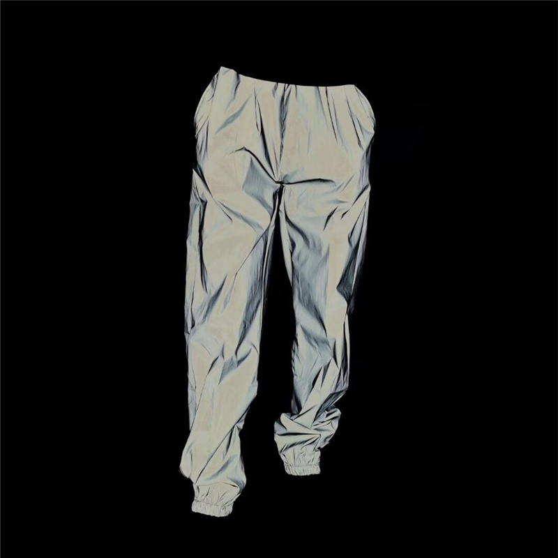 2019 fashion Men Reflective Night Jogger casual pants male Hip hop Elastic waist Harajuku Loose Skateboard Sweatpants trousers(China)
