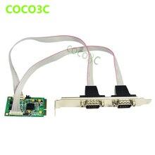Mini PCIe 2 portas PCI - e DB9 de série mPCIE para Min ITX COM cartão XR17V352