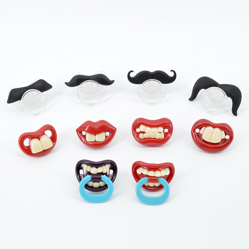 Silicone Funny Nipple Dummy Baby Soother Joke Prank Toddler Pacy Orthodontic Nipples Teether Baby Pacifier Christmas Gift baby pacifier soother silicone dummy baby biter teether soother nipples t026