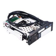 Uneatop ST7224US 2.5+3.5 inch Dual Bay 2-bay SATA HDD Rack Enclosure Silver Door