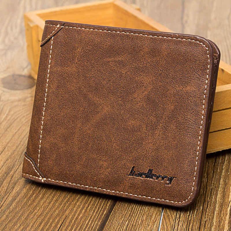 Baellerry High Quality Men Leather Wallets Vintage Male Wallet Three Hold Purse For Men Short Purses carteira masculina D9150 us and european hot selling new high quality vintage men s long money wallet baellerry wholesale purse clutches for man w008