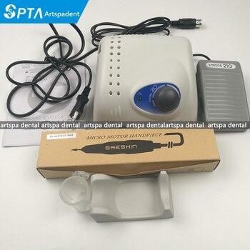 Dental lab micro motor Electric 35000rpm Saeshin Strong210 handpiece Traus 102L