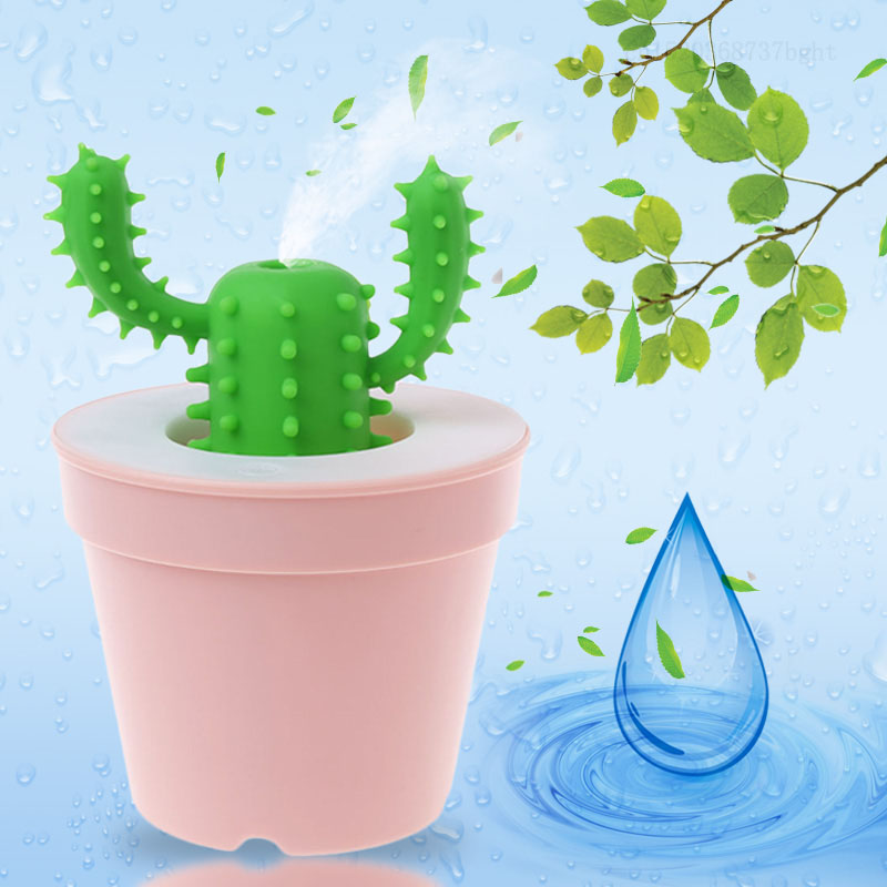 Cute Cactus 200ml USB LED Ultrasonic Aroma Humidifier Essential Oil Diffuser Aromatherapy Purifier hot sale humidifier aromatherapy essential oil 100 240v 100ml water capacity 20 30 square meters ultrasonic 12w 13 13 9 5cm