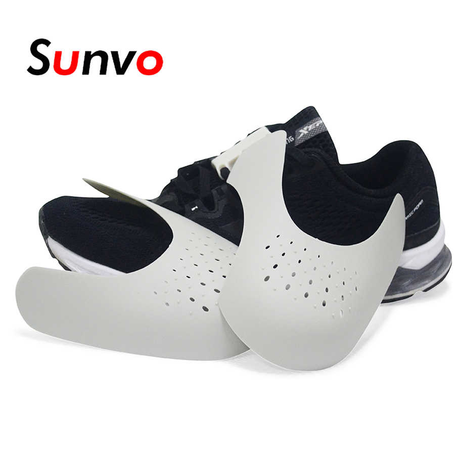 Sunvo Shoes Shields for Sneaker Anti Crease Wrinkled Fold Shoe Support Toe  Cap Sport Ball Shoe c3599833688a