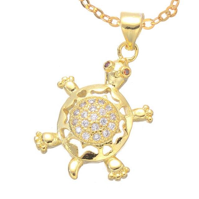 2016 cute animal sea turtle design cz zircon turtle pendant necklace 2016 cute animal sea turtle design cz zircon turtle pendant necklace gold cubic zirconia filled turtle aloadofball Images
