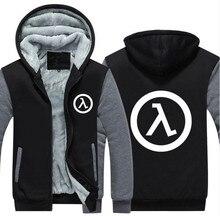 NEW USA Size Half Life FPS Video Game Unisex Hoodie Coat Winter Fleece Thicken Sweatshirts Jacket